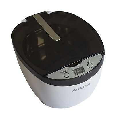 750ML Digital Ultrasonic Cleaner Bath Timer Jewelry Cleaner Stainless Steel Tank
