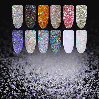 Holographic Nail Sequins Bling Glitter Powder Dust Decoration Tips Born Pretty