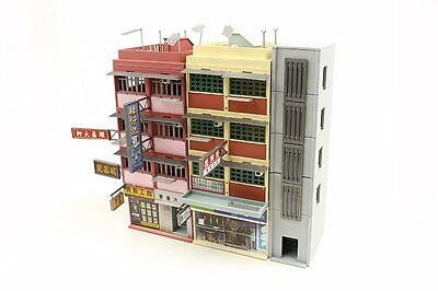 TINY Hong Kong City Bd10 HK Oldy Building Painted Diorama Set Model Colorful