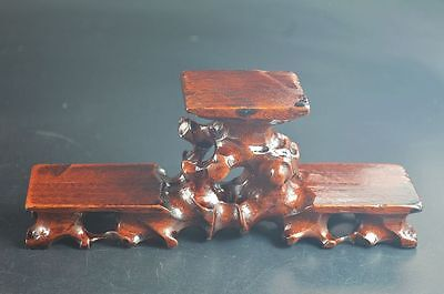 Chinese antique wooden stand table hardwood Triple show display shelf *