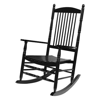 Indoor/Patio/Porch Solid Wooden Adult Rocker/Rocking Chair Vintage Black