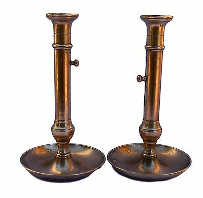 Huge French Antique Louis Philippe Pair of Candlesticks Candle Holders