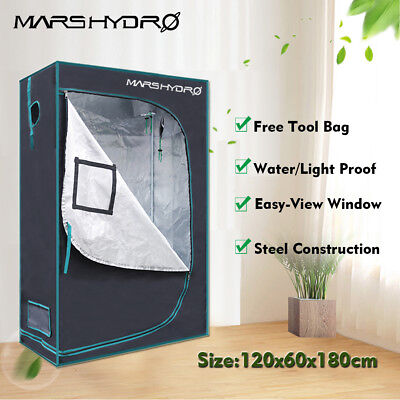 GrowBox 120x60x180cm Gewächshaus Zuchtzelt Growzelt Indoor Grow Tent Growschrank
