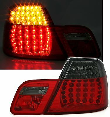 For BMW 3 Series E46 Coupe 1998-2003 Red & Smoked LED Rear Tail Lights Pair