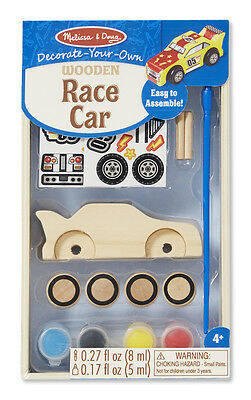 Melissa and Doug - Decorate Your Own - Wooden Race Car Craft Set - DYO
