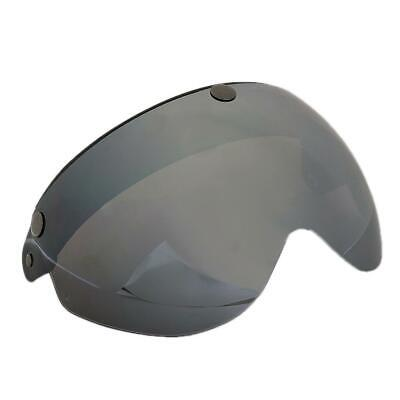 Motorcycle Helmets 3/4 Face 3 Snap Flip Up Visor Shield with Brown Lens