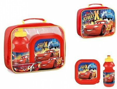 Boys Disney Cars Street X insulated 3 pieces lunch box lunch bag