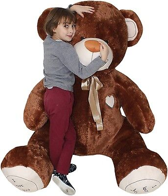 190 cm ! GIANT LARGE BIG HUGE TEDDY BEAR +EMBROIDERY  BROWN great gift birthday