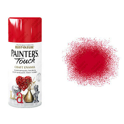 x1 Rust-Oleum Painter's Touch Craft Enamel Spray Paint Cherry Red Gloss 150ml