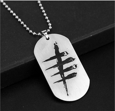 Womens Men's Silver Animation game316L Stainless Steel Titanium Pendant Necklace