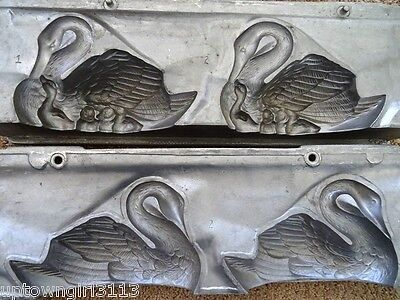 SWANS industrial casting FOUNDRY moulds & cygnets BABY SWANS large LOFT CONDO