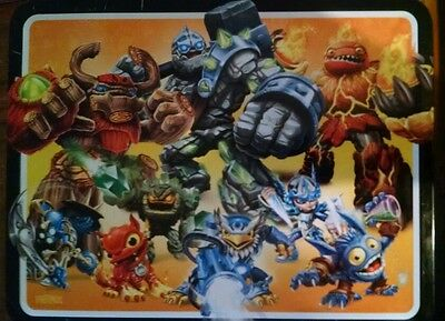 Skylanders Giants Square Carrying Case Tin Stationery Lunch Box Lunchbox Blue