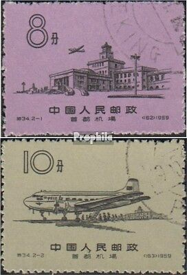 Peoples Republic of China 444-445 (complete issue) used 1959 Ai