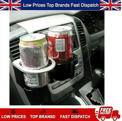 Universal Clip Vent Fit Twin Cup Can Drinking Bottle Holder Stand Car Van Truck