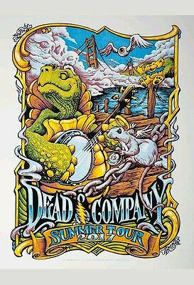 Dead & Company Poster VIP 2017 Summer Tour SIGNED NUMBERED AE MINT AJ Masthay