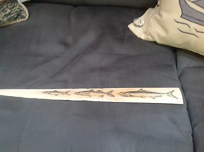 scrimshaw. swordfish bill