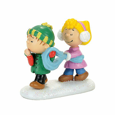 Dept 56 Peanuts Village My Sweet Babboo Sally and Linus w/ Blanket 4057274 NEW