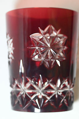 Waterford Red SNOW CRYSTALS Double Old Fashioned (DOF) glass, 3 avail.