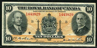Canada 1935, Royal Bank 10 Dollars, S1392, VF+