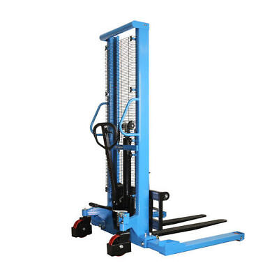 Eoslift 2,200 lbs. 63 in. Raised Height Manual Straddle Stacker Pallet Truck  H1