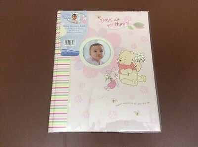 Disney Baby Memory Book Pink Winnie the Pooh Plastic Cover-USED SLIGHTLY