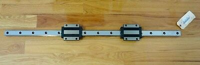 "THK Linear 42-1/2"" Motion Guide Rail with a pair of Size 35 Bearing Blocks. New"