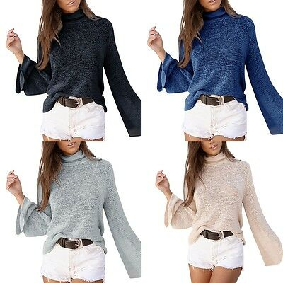 Mode Femmes Pull-over Knitwear Sweater Tricot Casual Chemise Chandail Veste Haut