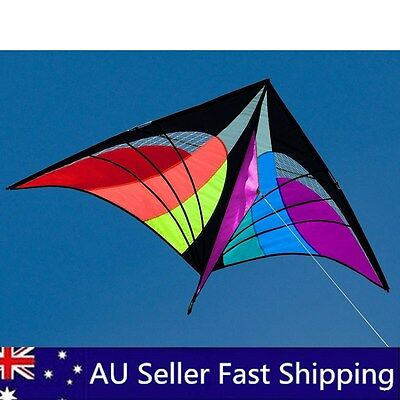 NEW 160X90cm Delta Triangle Kite Outdoor fun Sports Toys single line multicolor