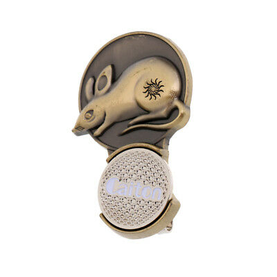 Portable Alloy Zodiac Mouse Magnetic Golf Ball Marker + Hat Clip Golfer Gift