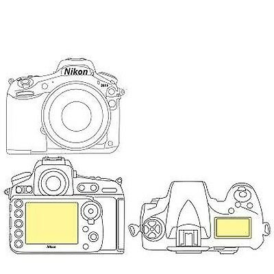 Martin Fields Overlay Plus Screen Protector (Nikon D810) - Includes Top LCD S...
