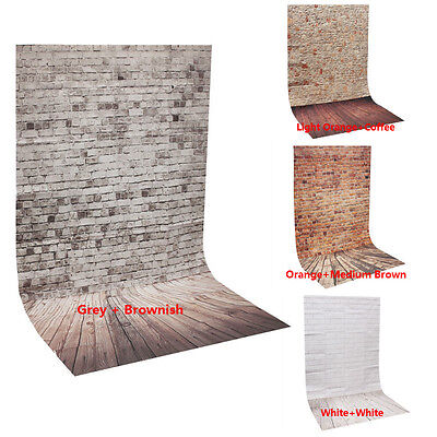 3*5FT Wood Grain Brick Studio Photography Background Photo Prop Thin Backdrop US