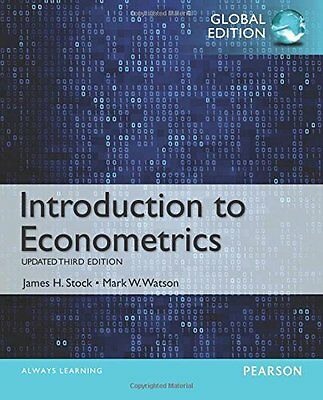 Introduction to Econometrics, Update 3rd by James H. Stock 3E (Global Edition)