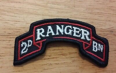 US Army 2nd Ranger Battalion Full Color Scroll Emblem Patch 3&5/8 inches across