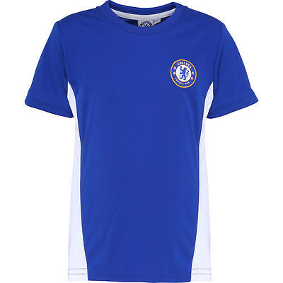 Chelsea FC Official Football Gift Boys Poly T Shirt Short Sleeve Training Top