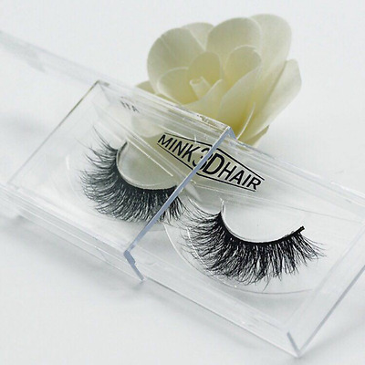 New 3D Mink natural Fur False Eye Lashes Flutter Individual Hand Thick Eyelashes