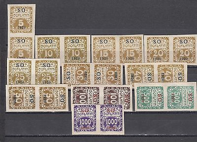 a113 - EAST SILESIA - SGD46-D56 MNH 1920 POSTAGE DUES - PAIRS - CV £111.00