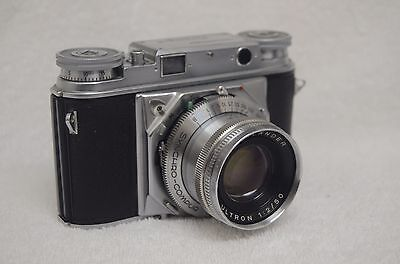 EXC++ VOIGHTLANDER PROMINENT CAMERA w/50mm F2 ULTRON, CLEAN, TESTED, SHARP!