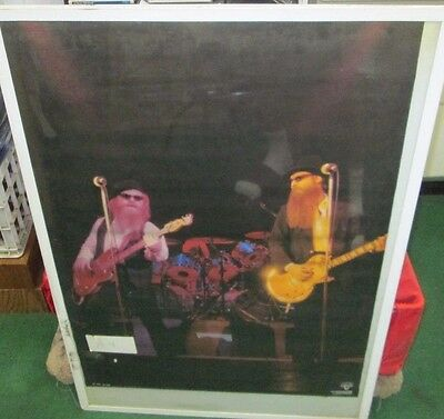 Zz Top Poster New Sealed Vintage 1984 Rare