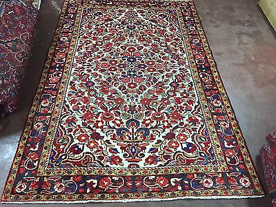 """Great Sale Antique Hand Knotted Persian Hamadan Rug Floral Carpet 5x8,5'x7'7"""""""