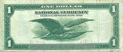 1918 $1 Federal Reserve Bank Note ~ Spread Eagle Type ~ Nice Sharp Designs