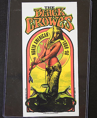 """""""The Black Crowes"""" North American Tour Beaver Productions Handbill"""