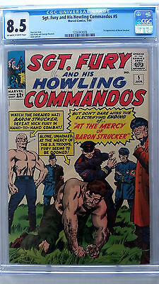 Sgt Fury and His Howling Commandos #5 CGC 8.5 VF+  1st Appearance Baron Strucker