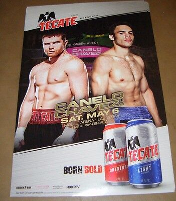 TECATE Beer CANELO CHAVEZ JR BOXING May 6 2017 Las Vegas Banner Poster Sign