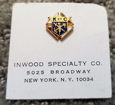 KNIGHTS OF COLUMBUS  LAPEL / TIE TACK SCREW BACK never used in original paper