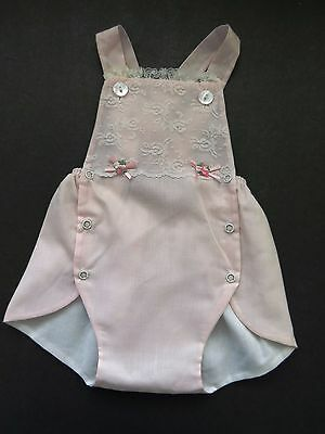 1960s Baby Girl Infant Sunsuit by Something Pretty - Size 6 Months - Pink Romper