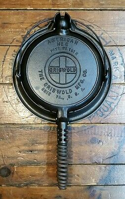 Griswold Cast Iron No. 8  Waffle Iron 151 Base 152 EXCELLENT