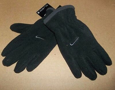 nwt-NIKE-Boys-Youth-Winter-Fleece-Gloves-Black/Gray-Size 8-20-osfm-sports-