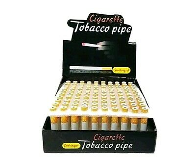 """100 count box of Metal Tobacco Pipes 3"""" Length-USA Seller"""