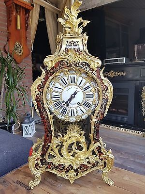 Beautifull antique red turtoiseshell boulle clock