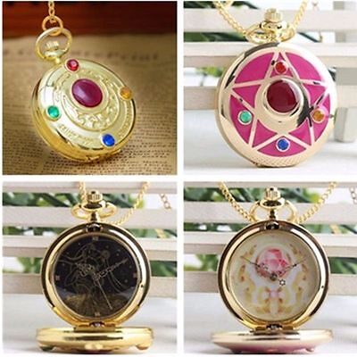 Sailor Moon Prism Sweater Pocket Watch Necklace Pendant Taschenuhr Halskette